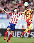 Atletico de Madrid's Juanfran Torres (l) and FC Barcelona's Neymar Santos Jr during Supercup of Spain 1st match.August 21,2013. (ALTERPHOTOS/Acero)