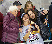 Stanford, CA - December 8, 2019: Jojo Harber at Avaya Stadium. The Stanford Cardinal won their 3rd National Championship, defeating the UNC Tar Heels 5-4 in PKs after the teams drew at 0-0.
