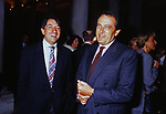 LUIGI ABETE CON INNOCENZO CIPOLLETTA<br /> AMFAR FOUNDATION CHARITY GALA PALAZZO VOLPI VENEZIA 1993