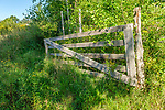 An old wooden gate on a rural country road in Hardwick, Massachusetts