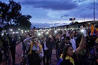 BOGOTA - COLOMBIA, 27-11-2019: Miles de manifestantes salieron a las calles de Bogotá para unirse a la septima jornada de paro Nacional en Colombia hoy, 27 de noviembre de 2019. La jornada Nacional es convocada para rechazar el mal gobierno y las decisiones que vulneran los derechos de los Colombianos. / Thousands of protesters took to the streets of Bogota to join the seventh National Strike day in Colombia today, November 27, 2019. The National Strike is convened to reject bad government and decisions that violate the rights of Colombians. Photo: VizzorImage / Diego Cuevas / Cont