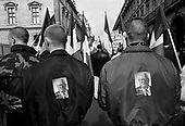 Paris, France .May 1, 2002..Jean-Marie Le Pen the French presidential candidate for the extreme right wing attends a parade and pro-Le pen rally in the streets of Paris. Some 20,000 attend..