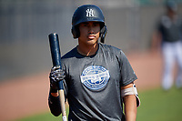 New York Yankees Juan Crisp (8) during an Instructional League intrasquad game on September 27, 2019 at New York Yankees Minor League Complex in Tampa, Florida.  (Mike Janes/Four Seam Images)