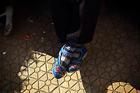he shoes of a woman of the Samatao minority in Zijun village.