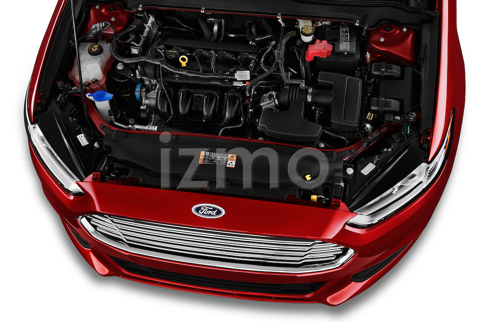 High angle engine detail of a  .2013 Ford Fusion SE