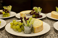 Stilton and grapes at a feast dinner at an Oxford College.