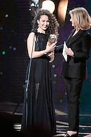 Oulaya AMAMRA ( Cesar meilleur espoir feminin remis par Nicole Garcia ) - 42eme ceremonie des CESAR - 24 fevrier 2017 - salle Pleyel - Paris - France