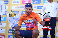 TUNJA - COLOMBIA, 11-02-2020: Jonathan Caicedo (ECU) EF EDUCATION FIRST Llíder de la general después de la segunda etapa del Tour Colombia 2.1 2020 con un recorrido de 152,4 km, que se corrió entre Paipa y Duitama, Boyacá. / Jonathan Caicedo (ECU)EF EDUCATION FIRST general leader after the second stage of 152,4 km as part of Tour Colombia 2.1 2020 that ran between Paipa and Duitama, Boyaca.  Photo: VizzorImage / Darlin Bejarano / Cont