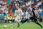 Daniel Carvajal Ramos (L) of Real Madrid is tackled by Michael Nicolas Santos Rosadilla of CD Leganes during the La Liga 2018-19 match between Real Madrid and CD Leganes at Estadio Santiago Bernabeu on September 01 2018 in Madrid, Spain. Photo by Diego Souto / Power Sport Images