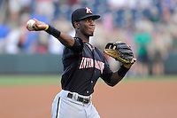 Shortstop Tim Anderson (2) of the Kannapolis Intimidators before a game against the Greenville Drive on Monday, August 5, 2013, at Fluor Field at the West End in Greenville, South Carolina. Anderson was a first-round pick by the Chicago White Sox in the 2013 First-Year Player Draft. Kannapolis won, 3-0. (Tom Priddy/Four Seam Images)