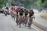 with 3 men in the front break, the Telenet Fidea Lions take to the front<br /> <br /> 10th Heistse Pijl 2017