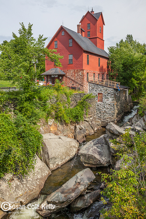 The Chittenden Mill, called the Old Red Mill, in Jericho, VT, USA