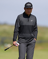 15th July 2021; Royal St Georges Golf Club, Sandwich, Kent, England; The Open Championship, PGA Tour, European Tour Golf, First Round ;  Yuxin Lin (CHN) on the opening hole
