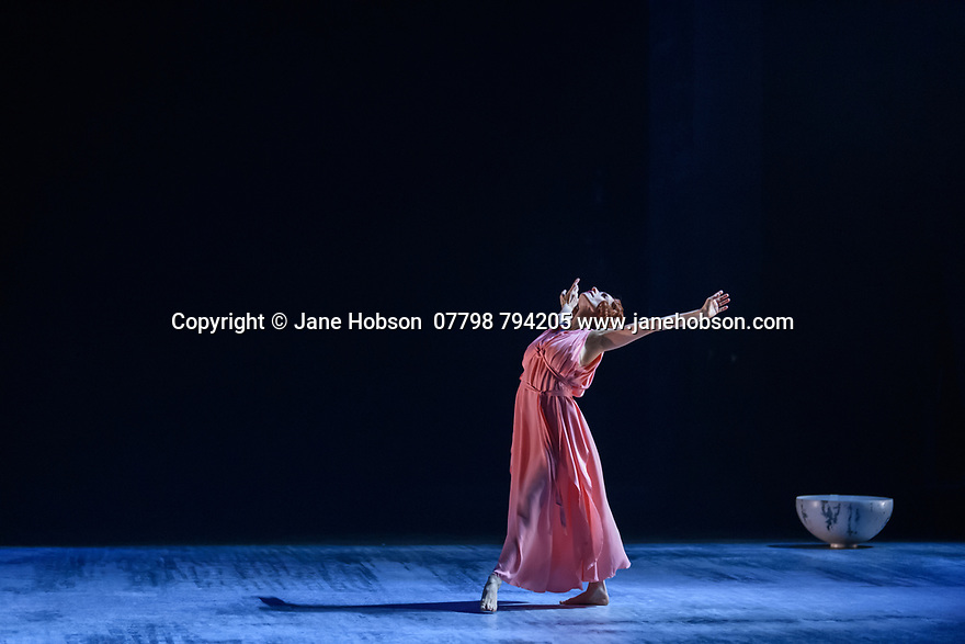 """The Barbican presents Viviana Durante Company, in the world premiere of """"Isadora Now"""", an evening paying tribute to feminist icon, Isadora Duncan, in the Barbican theatre. The piece shown is: FIVE BRAHMS WALTZES IN THE MANNER OF ISADORA DUNCAN, choreographed by Frederick Aston. The dancer is: Viviana Durante. Costume design is by David Dean."""