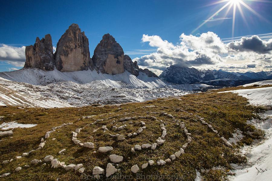 View of Tre Cime, Dolomites