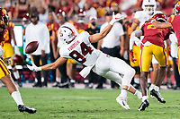 LOS ANGELES, CA - SEPTEMBER 11: Benjamin Yurosek during a game between University of Southern California and Stanford Football at Los Angeles Memorial Coliseum on September 11, 2021 in Los Angeles, California.