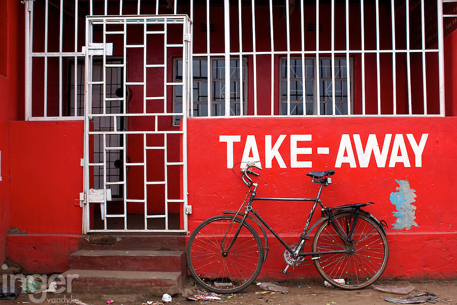 Takeaway Bicycle in Dambwa Central Market, Livingstone, Zambia