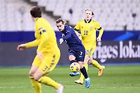 17th November 2020; Stade de France, Paris,  France; UEFA National League international football, France versus Sweden;  ANTOINE GRIEZMANN (FRA) shoots past Lindelöf of Sweden