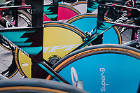Team Canyon-Sram's colourful teambikes/wheels ready to roll<br /> <br /> UCI WOMEN'S TEAM TIME TRIAL<br /> Ötztal to Innsbruck: 54.5 km<br /> <br /> UCI 2018 Road World Championships<br /> Innsbruck - Tirol / Austria