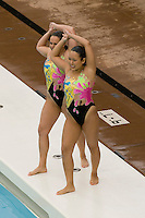2 February 2008: Debbie Chen and Taylor Durand during Stanford's 90-69 win over Alabama-Birmingham at the Avery Aquatic Center in Stanford, CA.
