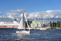 Jachtclub auf der Insel Valkosaari, Helsinki, Finnland