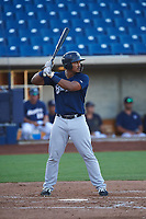 AZL Brewers Blue Caleb Marquez (21) at bat during an Arizona League game against the AZL Brewers Gold on July 13, 2019 at American Family Fields of Phoenix in Phoenix, Arizona. The AZL Brewers Blue defeated the AZL Brewers Gold 6-0. (Zachary Lucy/Four Seam Images)