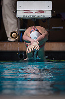 STANFORD, CA - February 17, 2018: Curtis Ogren at Avery Aquatic Center. The Stanford Cardinal defeated the California Golden Bears 151-149 on Senior Day.