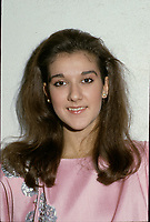 MOntreal (Qc) CANADA - File Photo circa Descember 1986 - Celine Dion attend a benefit event
