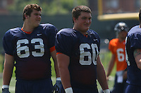 Virginia offensive lineman Mike Price during open spring practice for the Virginia Cavaliers football team August 7, 2009 at the University of Virginia in Charlottesville, VA. Photo/Andrew Shurtleff