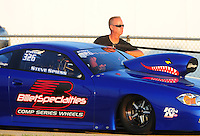Jul, 9, 2011; Joliet, IL, USA: NHRA pro stock driver Steve Spiess during qualifying for the Route 66 Nationals at Route 66 Raceway. Mandatory Credit: Mark J. Rebilas-