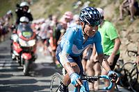 Nairo Quintana (COL/Movistar) up the Tourmalet (HC/2115m/19km @7.4%)<br /> <br /> Stage 14: Tarbes to Tourmalet(117km)<br /> 106th Tour de France 2019 (2.UWT)<br /> <br /> ©kramon