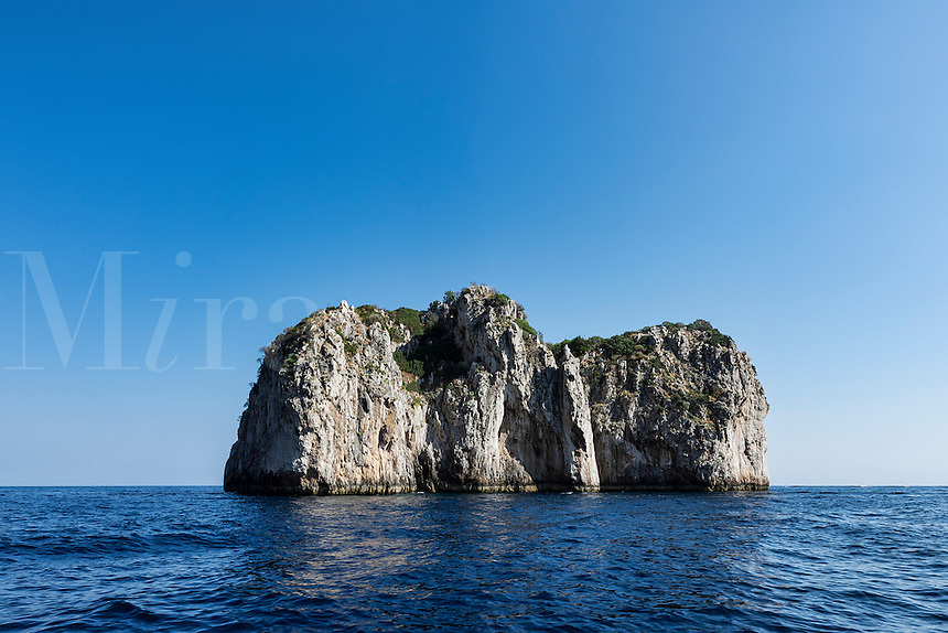 Small uninhabitied island of the coast of the Isle of Capri, Italy