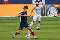 CHICAGO, UNITED STATES - AUGUST 25: Alvaro Medran #10 of Chicago Fire battles with Yuya Kubo #7 of FC Cincinnati during a game between FC Cincinnati and Chicago Fire at Soldier Field on August 25, 2020 in Chicago, Illinois.