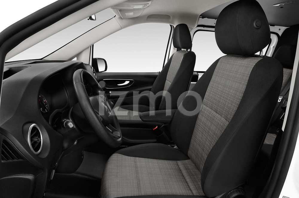 Front seat view of a 2019 Mercedes Benz Vito Base 4 Door Cargo Van front seat car photos