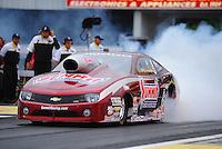 Jun. 1, 2012; Englishtown, NJ, USA: NHRA pro stock driver Greg Anderson during qualifying for the Supernationals at Raceway Park. Mandatory Credit: Mark J. Rebilas-
