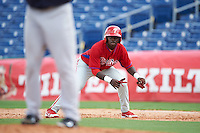 Philadelphia Phillies Cornelius Randolph (2) during an instructional league game against the New York Yankees on September 29, 2015 at Brighthouse Field in Clearwater, Florida.  (Mike Janes/Four Seam Images)