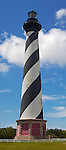 Cape Hatteras National Seashore, North Carolina<br /> Cape Hatteras Lighthouse (1870) and morning clouds