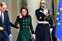 Visite officielle du Duc et la Duchesse de Cambridge reÁus par le PrÈsident de la RÈpublique FranÁois Hollande au palais de líElysÈe ‡ Paris, le vendredi 17 mars ‡ 16h30. # LE PRINCE WILLIAM ET KATE RECUS A L'ELYSEE PAR FRANCOIS HOLLANDE