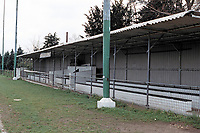 The main stand at Hoddesdon Town Football Club, Lowfield