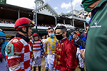 APRIL 30, 2021:  Flavien Prat and Umberto Rispoli at Churchill Downs in Louisville, Kentucky on April 30, 2021. EversEclipse Sportswire/CSM