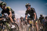 Sylvain Chavanel (FRA/Direct Energie) on pavé sector #2<br /> <br /> Stage 9: Arras Citadelle > Roubaix (154km)<br /> <br /> 105th Tour de France 2018<br /> ©kramon