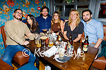 Shane Flatman, Ormella Saib, Cathal Traverss, Sarah Anderson, Clare Fitzgerald and Shane O'Brien enjoying the evening in the Ashe Hotel on Saturday.