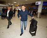 Pedro Caixinha at Glasgow Airport this morning