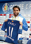Getafe's new player Manuel Jesus Vazquez Chuli during his official presentation. February 2, 2017. (ALTERPHOTOS/Acero)