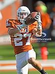 Texas Longhorns cornerback Josh Richardson (27) in action during the game between the Brigham Young Cougars and the Texas Longhorns at the Darrell K Royal - Texas Memorial Stadium in Austin, Texas. Texas defeats Brigham Young 17 to 16...