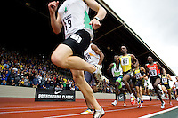 EUGENE, OR--Khadevis Robinson, 61, Alfred Yego, 65, compete in the men's 800m at the Steve Prefontaine Classic, Hayward Field, Eugene, OR. SUNDAY, JUNE 10, 2007. PHOTO © 2007 DON FERIA