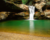Upper Falls in Old Man's Cave; Hocking Hills State Park, OH