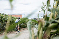 Maxime Farazijn (BEL/Sport Vlaanderen Baloise) over  the Plugstreets Gravel Sections. <br /> <br /> <br /> 1st Great War Remembrance Race 2018 (UCI Europe Tour Cat. 1.1) <br /> Nieuwpoort > Ieper (BE) 192.7 km