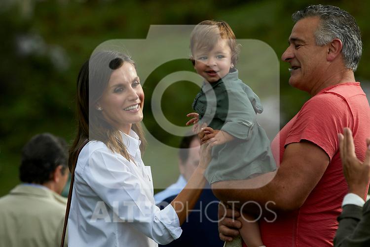 Queen Letizia of Spain visit the Enol lake in Asturias, Spain. September 08, 2018. (ALTERPHOTOS/A. Perez Meca)
