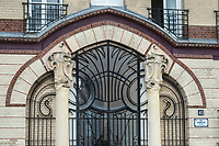 Europe/France/Normandie/76/Seine Maritime/ Le Havre :   Facade Art nouveau . au 42 rue Champlain -  architecte William Cargill //  Europe / France / Normandy / 76 / Seine Maritime / Le Havre: Art Nouveau facade. at 42 rue Champlain - architect William Cargill //